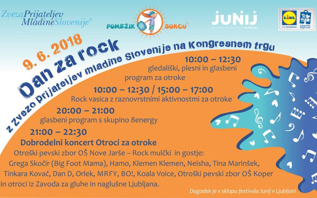 Dan za rock z Zvezo prijateljev mladine Slovenije